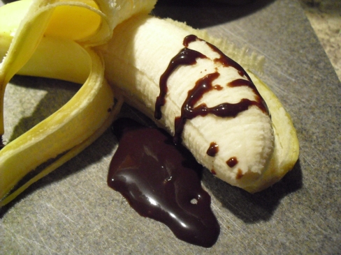 Banana and chocolate (wait where's my blender!)