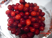 Fresh frozen cranberries rinsed and picked over.
